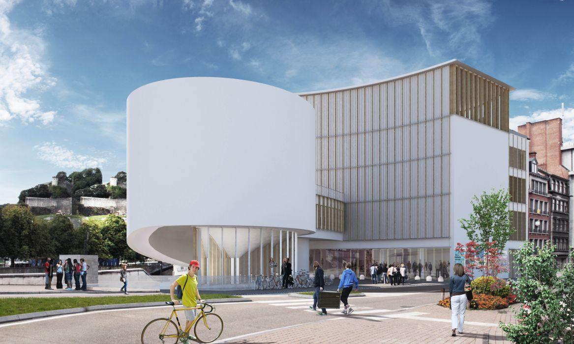 Nouvelle Maison de la Culture de la Province de Namur, conçue par Philippe Samyn et Associés