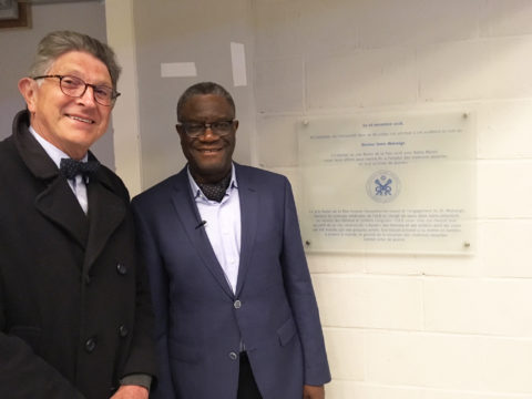 Dr Denis Mukwege & Philippe Samyn at ULB's Medical Auditorium